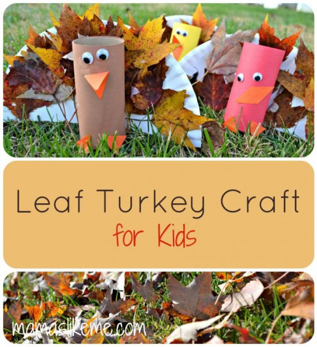 These paper plate leaf turkeys are just one of the adorable Thanksgiving turkey crafts you can make with leaves. Click to find links and instructions for them all.