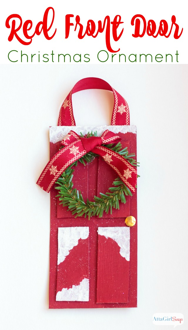 Make This Red Front Door Christmas Ornament For Your Tree In Less Than 15  Minutes Using