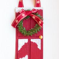 Red Front Door Christmas Ornament
