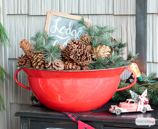 join me for virtual tours of eight bloggers stunning porches decorated for the holidays you - Rustic Christmas Decor For Sale