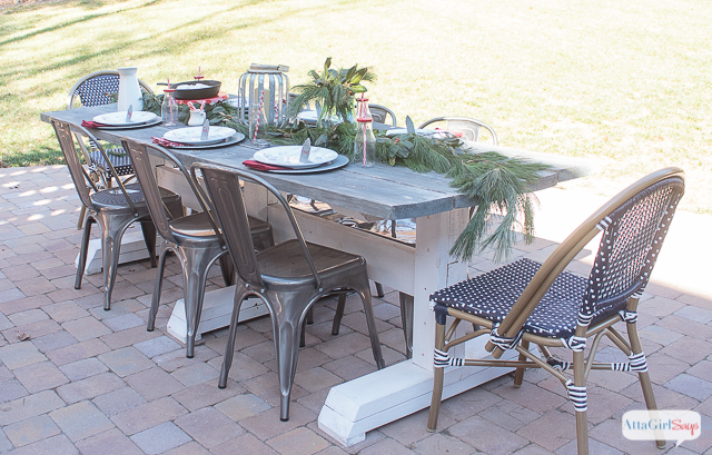 Outdoor Farmhouse Table Set for Christmas Brunch Atta Girl Says