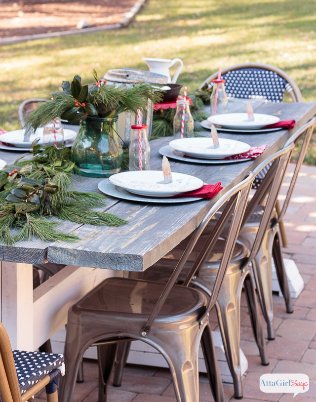 Farmhouse Table Christmas Brunch, shared by Atta Girl Says at The Chicken Chick's Clever Chicks Blog Hop