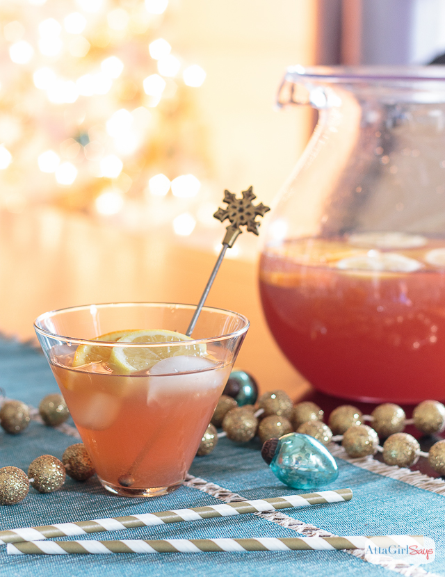 Looking for holiday punch recipes? This adults-only party punch recipe is spiked with bourbon and vodka. The festive combination of flavors is great for a Christmas party or a New Year's Eve celebration.