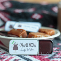 Easy Caramel Mocha Lip Balm Recipe
