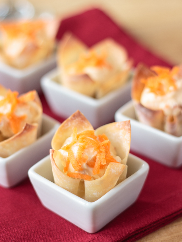 These bite-sized cream cheese wontons are flavored with homemade pepper jelly. They're great for parties.