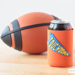 Did you know you can make your own custom can koozies using a Cricut Explore Air and craft foam. These DIY koozies can be easily personalized for your favorite team or players. They'd also be great for a wedding! #ad #CricutMade