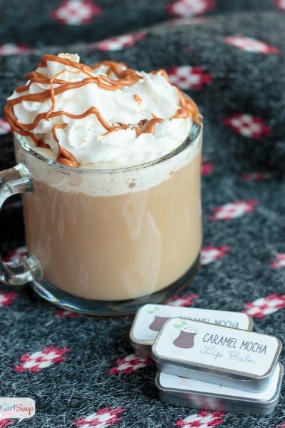 Easy Caramel Mocha Lip Balm Recipe