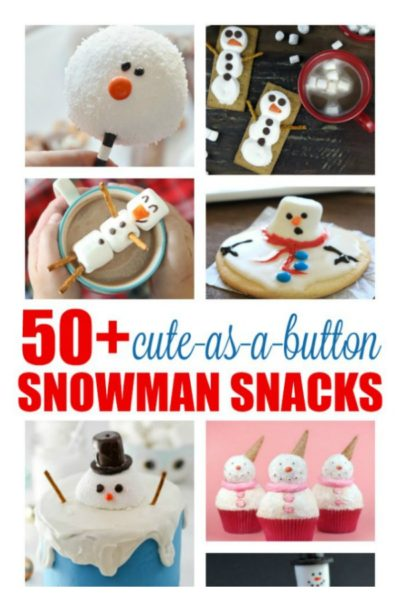 50+ Cute-As-A-Button-Nose Snowman Snacks