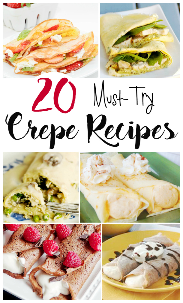 Whether you like savory or sweet, you're sure to find a favorite crepe recipe in this collection of mouth-watering dishes. Crepes are great for breakfast, brunch, lunch, dinner and dessert. And they're such a romantic treat to serve on Valentine's Day.