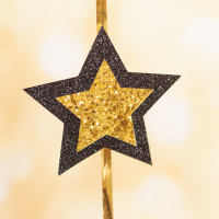 DIY Glittered Stars Party Streamers
