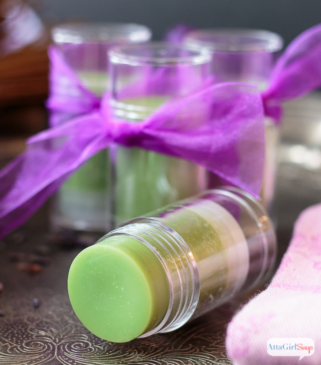 This handy lotion stick winter skin balm is made with moisturizing and healing oils, essential oils and shea butter. It's an excellent dry skin treatment for chapped, cracked, flaky and itchy patches. Contains lavender essential oil, Argan oil, Palmarosa essential oil and other all-natural healing and moisturizing ingredients.