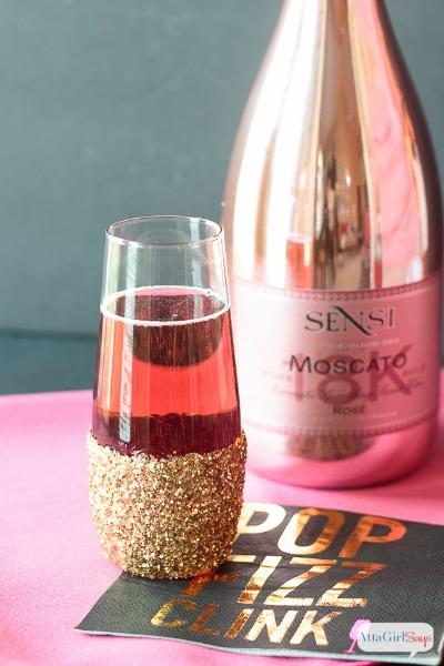 Learn How To Make Fancy Glitter Champagne Glasses