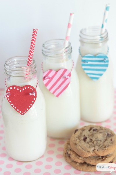 Easy DIY Heart Milk Bottle Charms