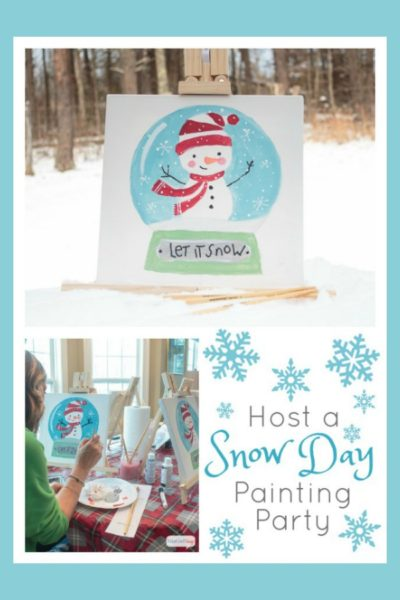 Snow Day Social Artworking Paint Party Ideas