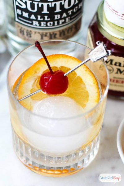 Moonshine Old Fashioned Cocktail