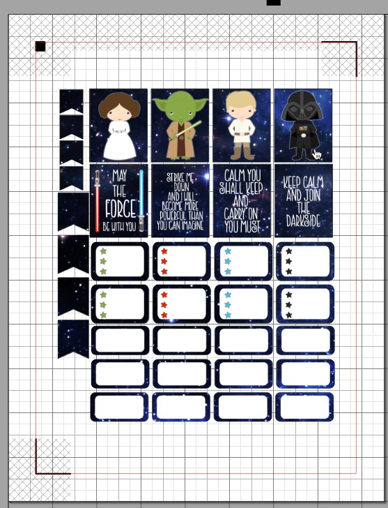 Cut & Print Star Wars Stickers for Your Planner - Atta Girl Says