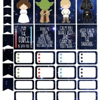 Cut & Print Star Wars Stickers for Your Planner
