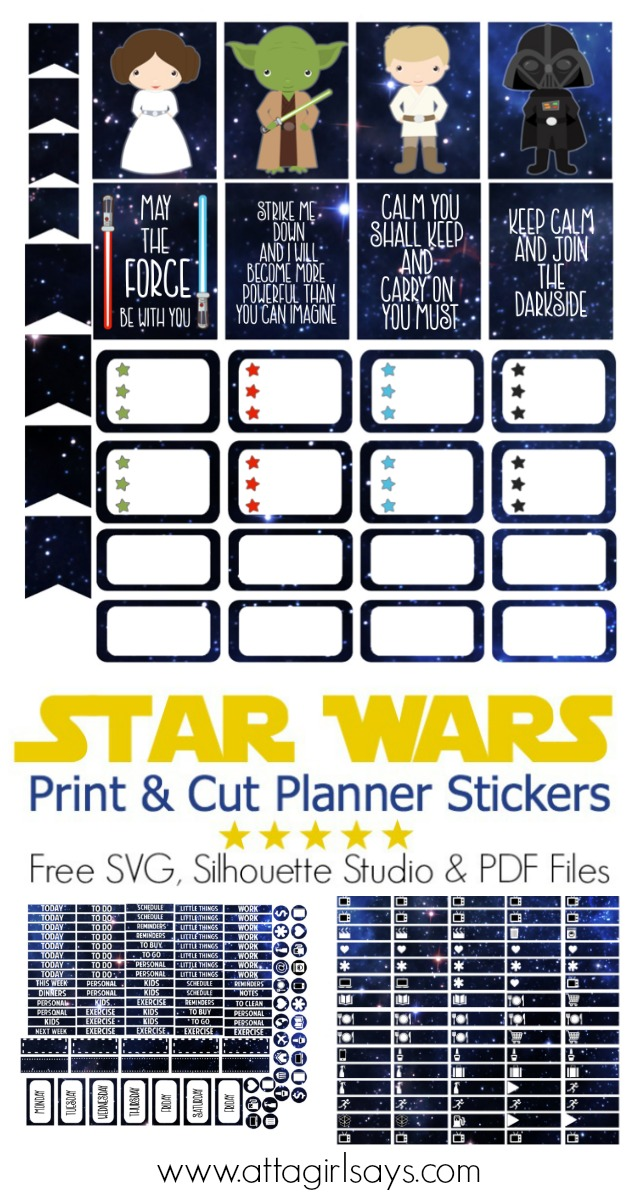 cut  u0026 print star wars stickers for your planner