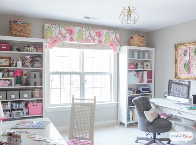 Feminine Home Office & Craft Room Tour