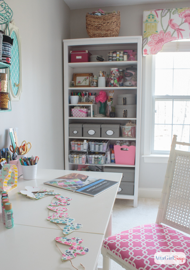 Feminine Home Office Craft Room Tour Atta Girl Says