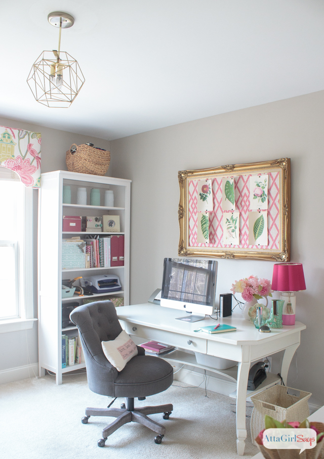 Feminine Home Office & Craft Room