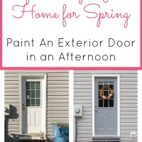 How to Paint a Door Without Removing It