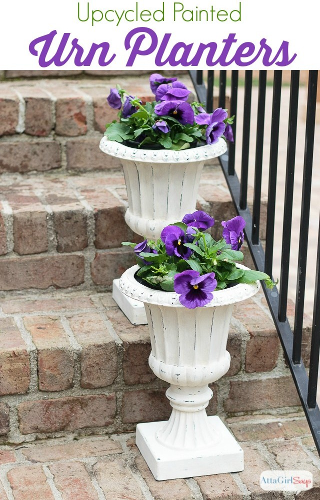 Upcycled Urn Planters