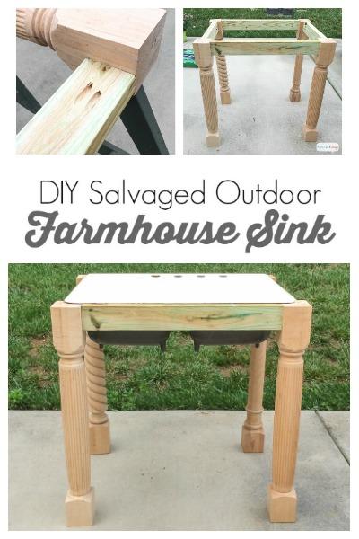 DIY Outdoor Cast Iron Farmhouse Sink Base