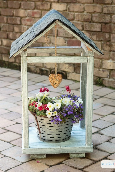 Rustic DIY Bird Feeder & Plant Atrium