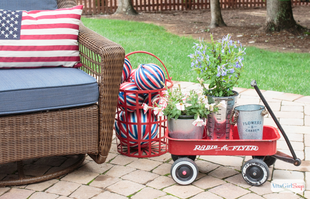Vintage Americana Decor For July 4th Atta Girl Says
