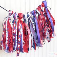 DIY Patriotic Ribbon Tassel Garland