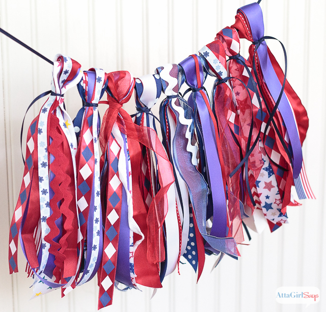 DIY Patriotic Ribbon Tassel Garland