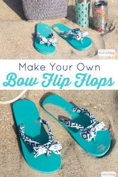 Make Your Own DIY Bow Flip Flops