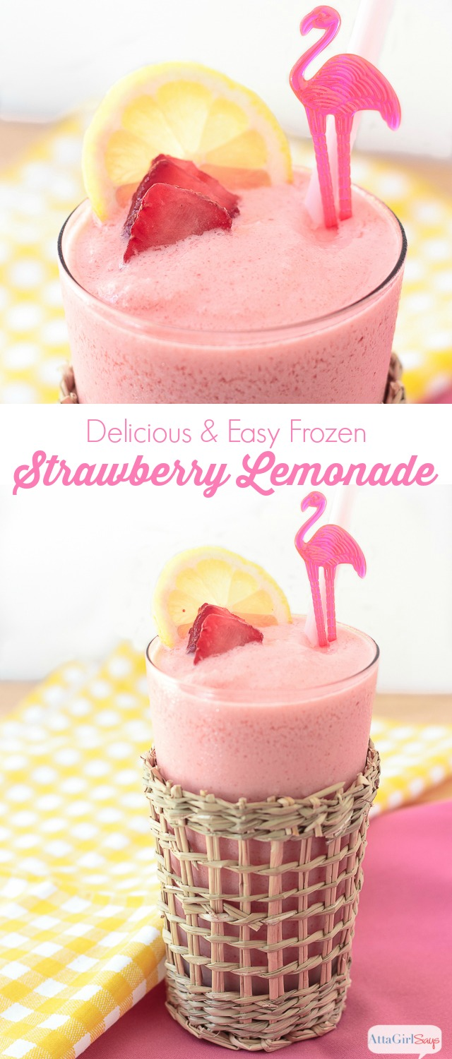Whip up a batch of this delicious and easy frozen strawberry lemonade recipe to beat the summer heat. It you're a fan of the frozen lemonade at McDonald's or the frosted lemonade at Chick-Fil-A, you'll love this make-at-home version.
