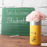 Teacher Appreciation Gifts: School Supply Vases