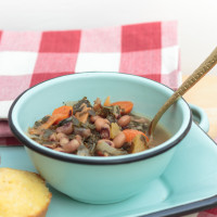 Black Eyed Pea Soup with Collards & Ham