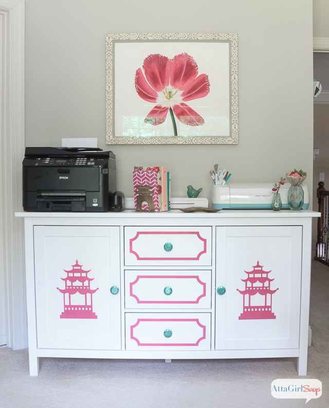 Transform A Plain IKEA Sideboard Into Beautiful Chinoiserie Furniture Using  Ou0027verlays Decorative Panels.
