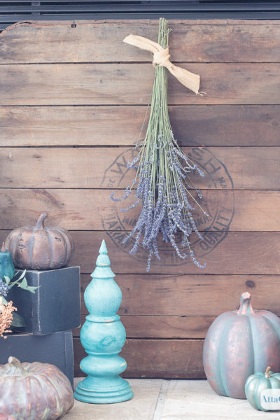 Jewel Tone Fall Fireplace Mantel Decor