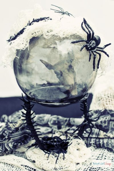 Dollar Tree Halloween Crystal Ball Craft