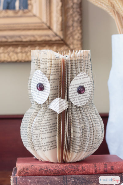 DIY Owl Book Page Art