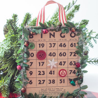 Christmas Bingo Card Handmade Ornaments
