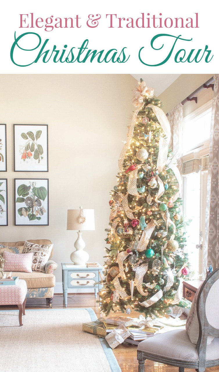 Sensational 2017 Christmas Home Tour With Elegant Traditional Touches Interior Design Ideas Tzicisoteloinfo