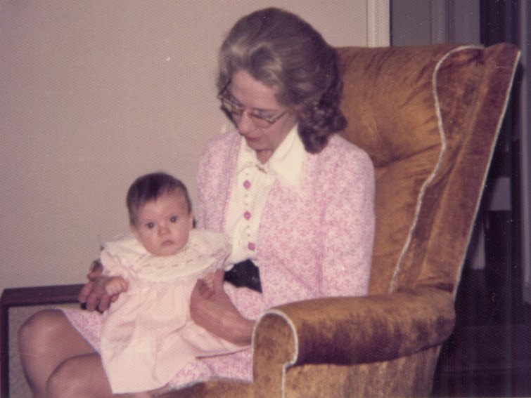 Blogger Amy Joyner Buchanan with her maternal grandmother, Nellie Rowena Mills.
