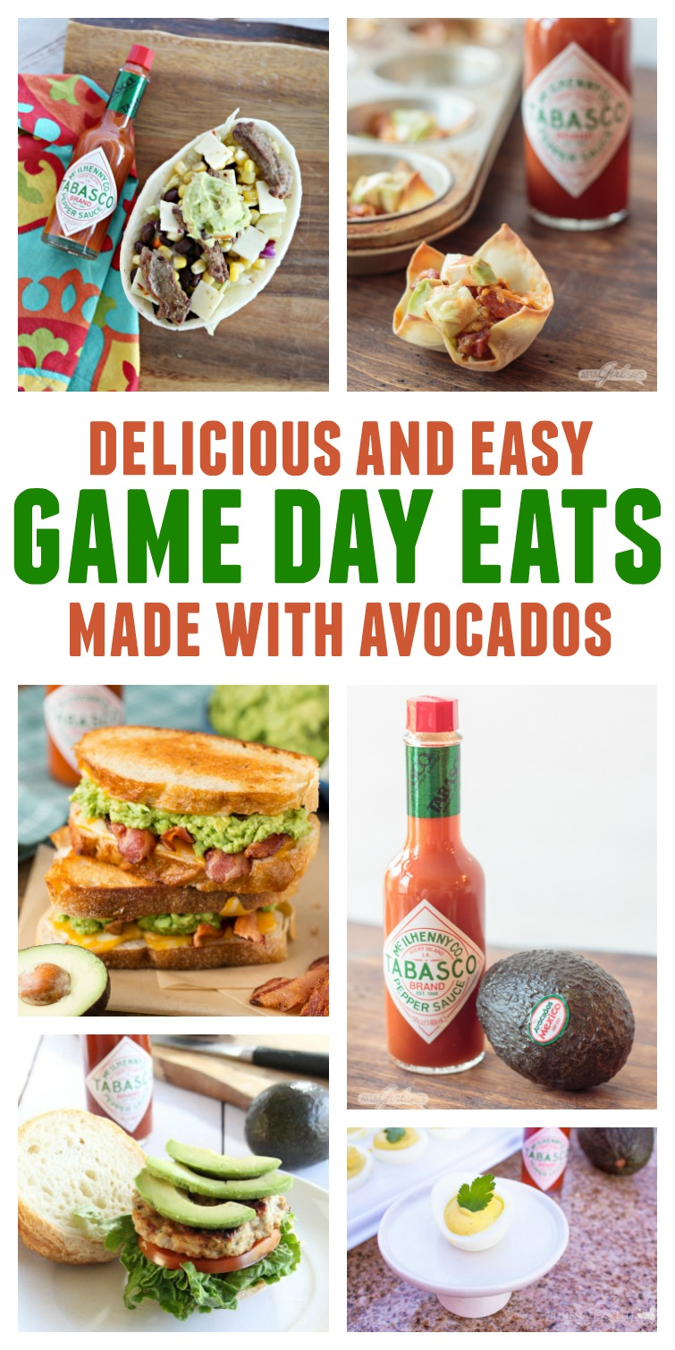 Stuffed wonton cups, guacamole, delicious deviled eggs, hearty sandwiches. Avocados are the perfect game day appetizer ingredient. Check out this tasty collection of easy avocado recipes to serve at your football watch party. #ad #GuacWorld #FlavorYourWorld
