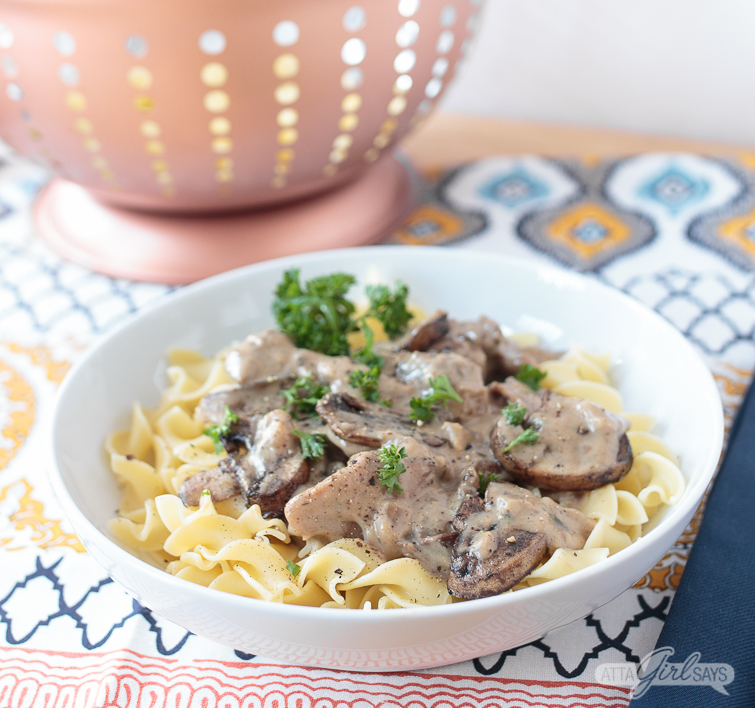 Slow Cooker Beef Stroganoff: Lighter Comfort Food