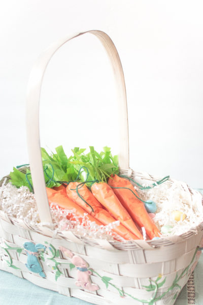 Easter Candy Surprise Tissue Paper Carrots