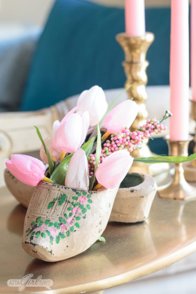 Decorating with Dutch Wooden Shoes