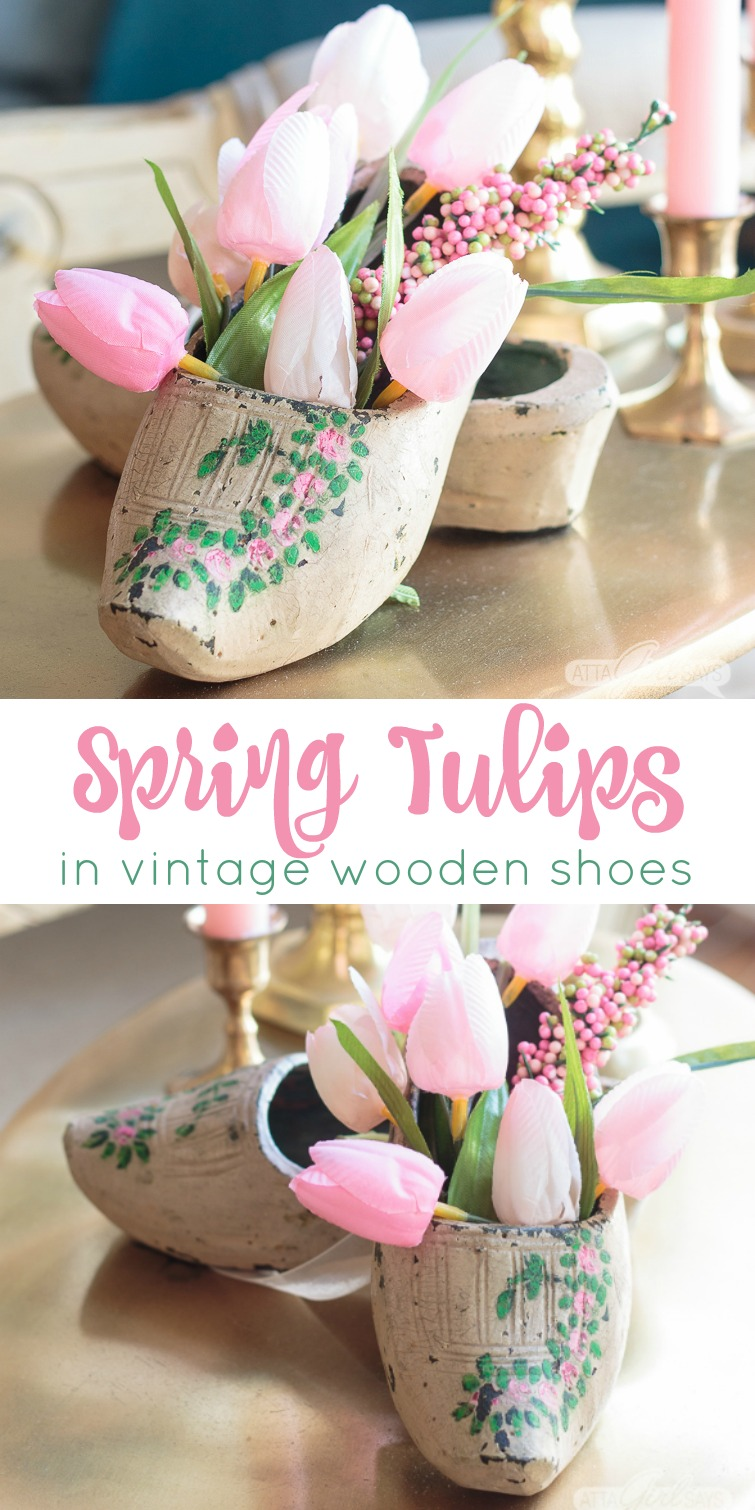 They might not feel very comfy on your feet, but there are lots of different ways you can use Dutch wooden shoes in your decorating. They make great planters, flower vases and organizers for all sorts of things, as you'll see in this roundup of repurposed klompen wood clogs. #netherlands #holland #woodenshoes #springdecorating #tulips