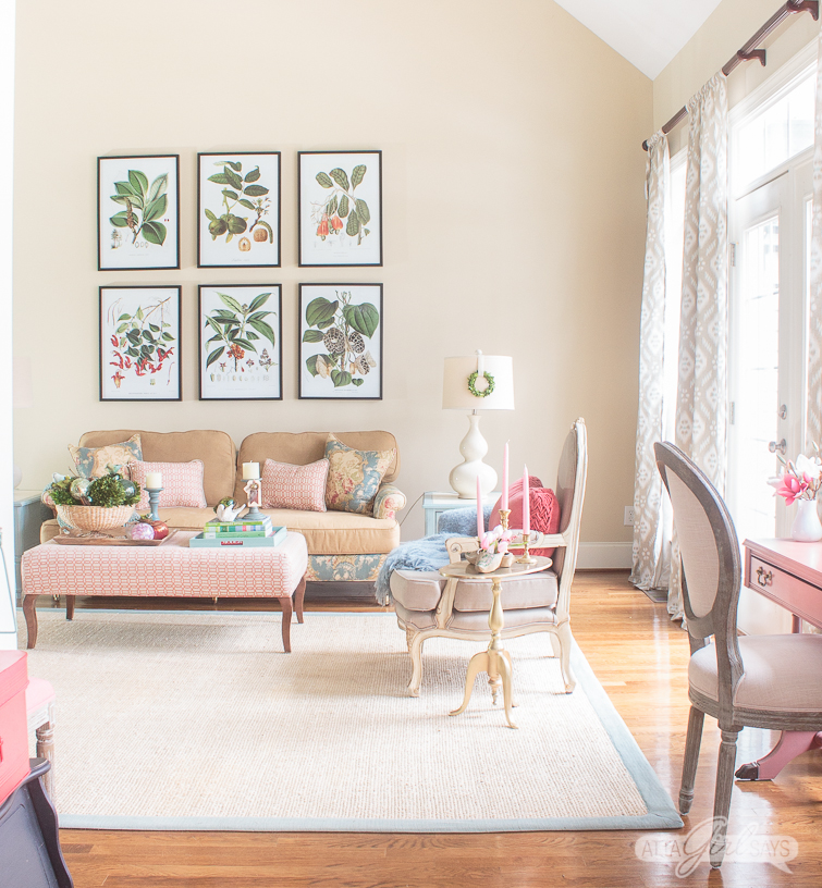 House Decorating Ideas Spring Throughout Your Favorite Bloggers Are Styled For Spring Start With This Tour Of My Living Room Spring Home Decorating Vintage Seasonal Touches In The Living Room