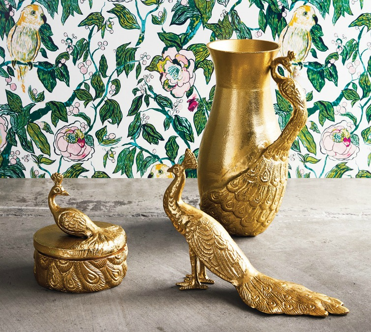 If you love vintage decor, hurry to Target to check out the new Opalhouse collection. These gold peacock decorative items are a few of the fabulous vintage-style pieces you'll find at great prices! #opalhouse #targetstyle #vintagestyle #peacock